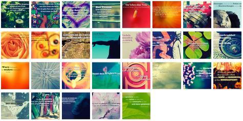 Übersichtsbild. Bilder Galerie mit Weisheiten, Zitate, Sprichwörter und Sprüche Dezember 2015
