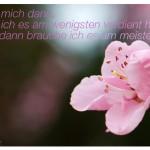 Mandelblüte mit dem Zitat: Liebe mich dann, wenn ich es am wenigsten verdient habe, denn dann brauche ich es am meisten.