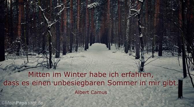 Mitten im Winter…