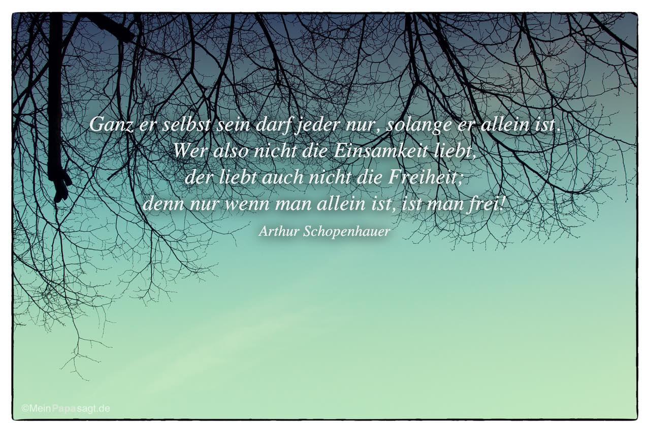 Blick In Den Himmel Mit Dem Arthur Schopenhauer Zitat: Ganz Er Selbst Sein  Darf Jeder