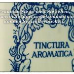 Alter Keramiktopf mit dem Zig Ziglar Zitat: Träumen Sie so weit Sie sehen, und wenn Sie dort angekommen sind, können Sie weiterblicken. Zig Ziglar