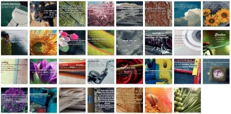 Übersichtsbild. Bilder Galerie mit Weisheiten, Zitate, Sprichwörter und Sprüche Mai 2015
