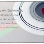 CD mit Herz und dem Marie von Ebner-Eschenbach Zitat: Wenn die Zeit kommt, in der man könnte, ist die vorüber, in der man kann. Marie von Ebner-Eschenbach