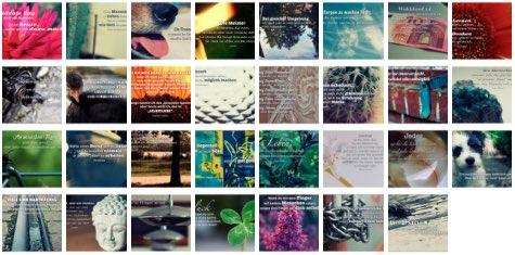 Übersichtsbild. Bilder Galerie mit Weisheiten, Zitate, Sprichwörter und Sprüche August 2015