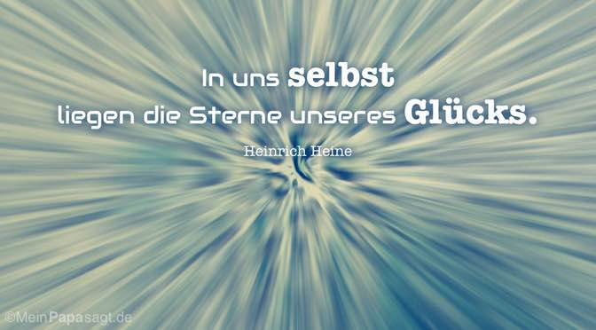 In uns selbst …