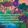 Beitragsbild mit Graffiti - Kinder leben das Leben so ehrlich, einfach und fröhlich