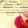 Wenn Terror nur noch Platz für Trauer und Wut übrig lässt...