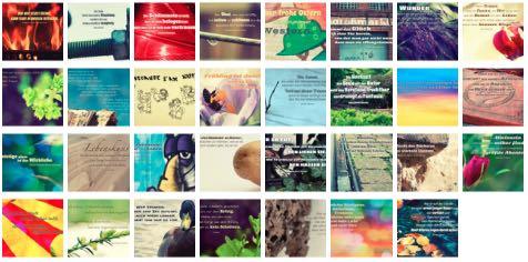 Übersichtsbild. Bilder Galerie mit Weisheiten, Zitate, Sprichwörter und Sprüche März 2016