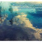 Havel mit dem Vincent van Gogh Zitat: Wenn man die Natur wahrhaft liebt, so findet man es überall schön. Vincent van Gogh
