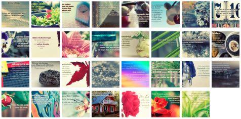 Übersichtsbild. Bilder Galerie mit Weisheiten, Zitate, Sprichwörter und Sprüche des Tages August 2016