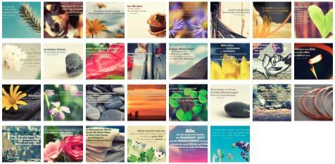 Übersichtsbild. Bilder Galerie mit Weisheiten, Zitate, Sprichwörter und Sprüche des Tages September 2016