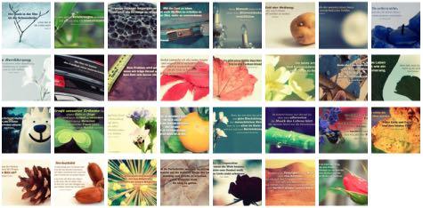 Übersichtsbild. Bilder Galerie mit Weisheiten, Zitate, Sprichwörter und Sprüche des Tages Oktober 2016