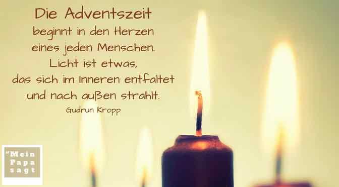 Die Adventszeit beginnt in den Herzen eines jeden Menschen…