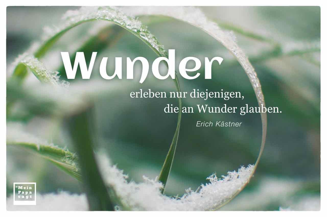 wunder erleben nur diejenigen, die an wunder glauben... - Sprüche Von Erich Kästner