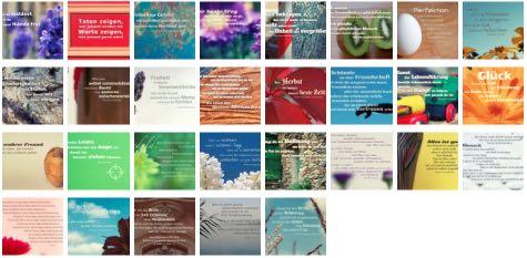 Übersichtsbild. Bilder Galerie mit Lebensweisheiten, Weisheiten, Zitate, Sprichwörter und Sprüche des Tages Oktober 2017