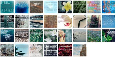 Übersichtsbild. Bilder Galerie mit Weisheiten, Zitate und Sprüche April 2015