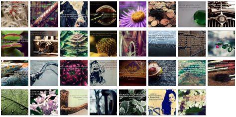 Übersichtsbild. Bilder Galerie mit Weisheiten, Zitaten und Sprüchen Januar 2015