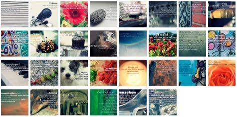 Übersichtsbild. Bilder Galerie mit Weisheiten, Zitate, Sprichwörter und Sprüche September 2015