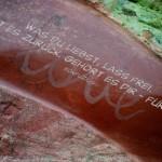 """Schriftzug """"Love"""" auf einem Stein, plus Grafik mit einem Konfuzius Zitat: Was du liebst, lass frei. Kommt es zurück, gehört es dir - für immer. Konfuzius"""