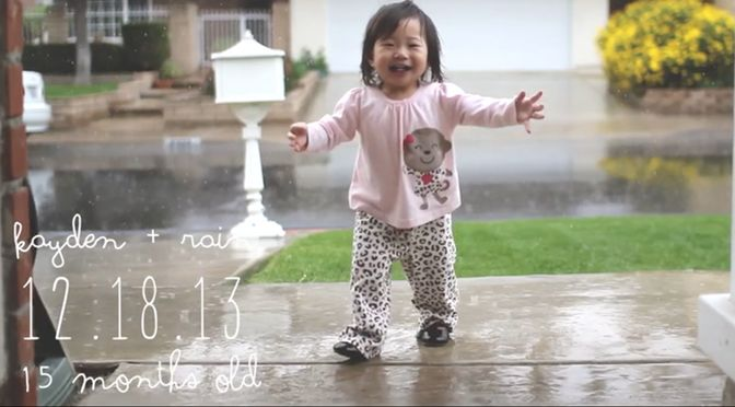 Ihr erster Regen!