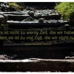 Stufen in den Alpen mit dem Zitat: Es ist nicht zu wenig Zeit, die wir haben, sondern es ist zu viel Zeit, die wir nicht nutzen. Lucius Annaeus Seneca