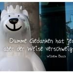 Berliner Bär mit dem Zitat: Dumme Gedanken hat jeder, aber der Weise verschweigt sie. Wilhelm Busch