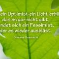 Sobald ein Optimist ein Licht erblickt...