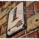Alte Hausnummer Berlin mit dem Zitat: Erfolgreich zu sein setzt zwei Dinge voraus: Klare Ziele und den brennenden Wunsch, sie zu erreichen. Johann Wolfgang vonGoethe