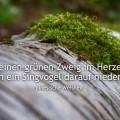 Wenn Du einen grünen Zweig im Herzen trägst...