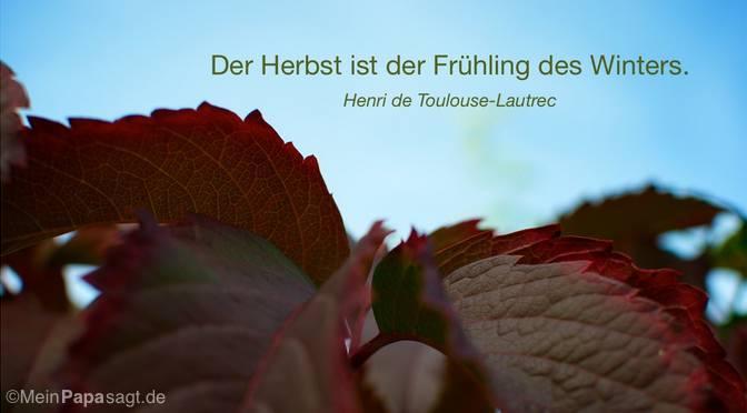 Der Herbst…