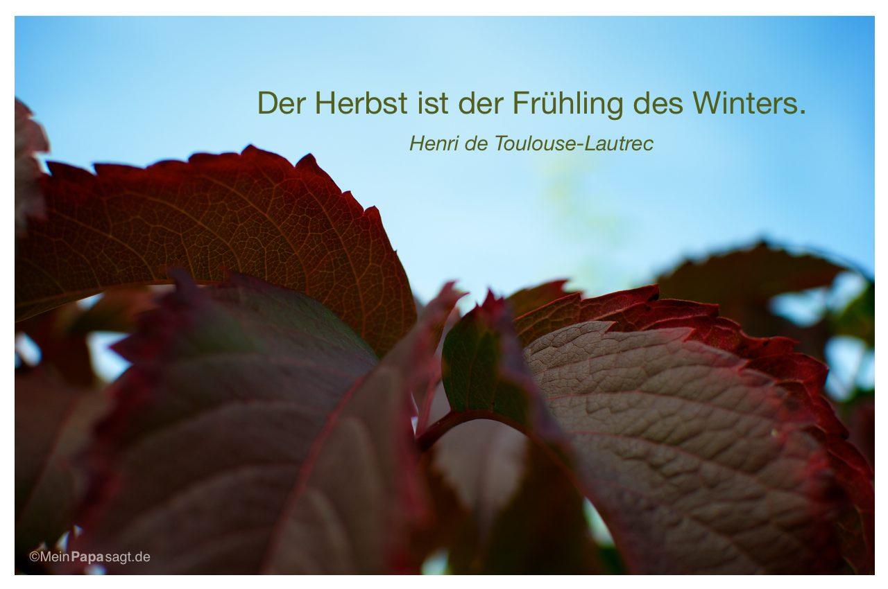 Herbst Blatter Mit Dem Zitat Der Herbst Ist Der Fruhling Des Winters Henri