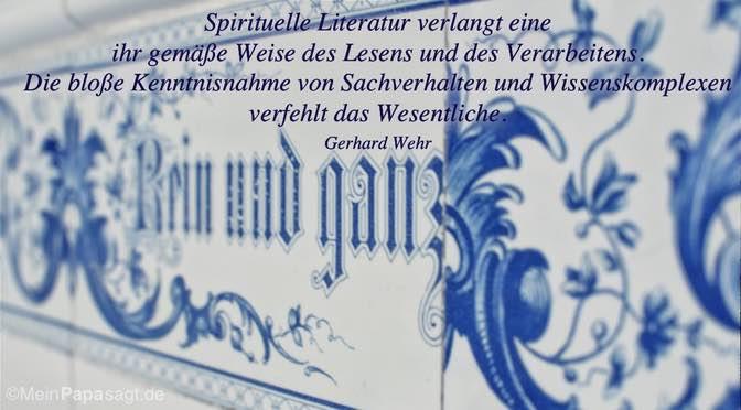 Spirituelle Literatur verlangt…