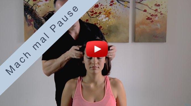 Mach mal Pause <br>mit Kopf und Gesichts-Massage