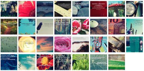 Übersichtsbild. Bilder Galerie mit Weisheiten, Zitate, Sprichwörter und Sprüche Oktober 2015