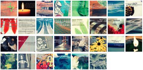 Übersichtsbild. Bilder Galerie mit Weisheiten, Zitate, Sprichwörter und Sprüche November 2015
