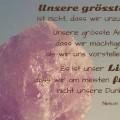 Unsere grösste Angst ist nicht, dass wir unzulänglich sind...