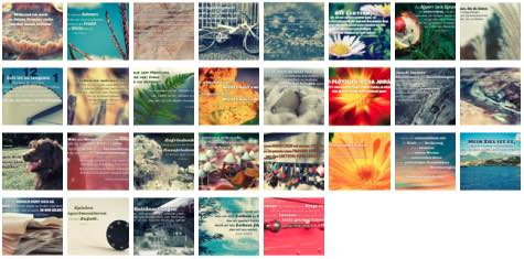 Übersichtsbild. Bilder Galerie mit Weisheiten, Zitate, Sprichwörter und Sprüche Februar 2016