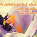 Frühling ist dann, wenn die Seele wieder bunt denkt.