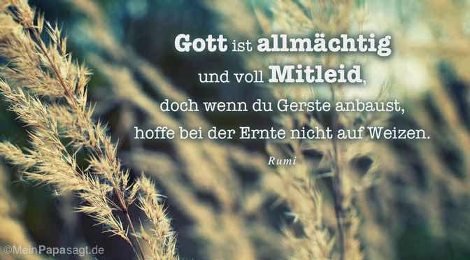 Gott ist allmächtig und voll Mitleid…
