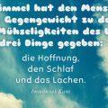 Der Himmel hat den Menschen als Gegengewicht...