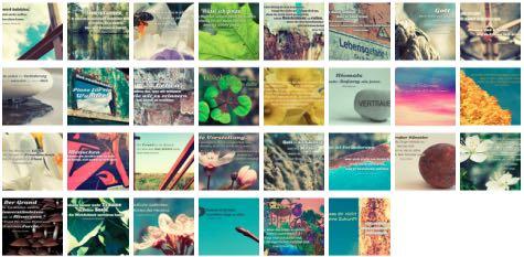 Übersichtsbild. Bilder Galerie mit Weisheiten, Zitate, Sprichwörter und Sprüche April 2016