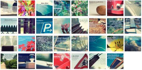 Übersichtsbild. Bilder Galerie mit Weisheiten, Zitate, Sprichwörter und Sprüche Mai 2016