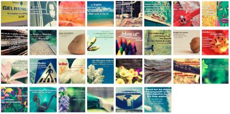 Übersichtsbild. Bilder Galerie mit Weisheiten, Zitate, Sprichwörter und Sprüche Juni 2016