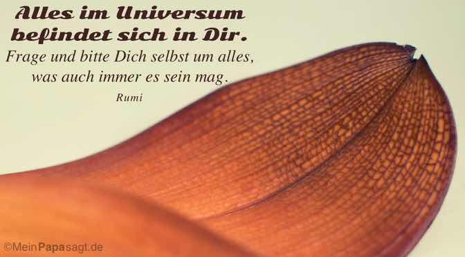 Alles im Universum befindet sich in Dir…