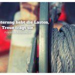 Seilwinde mit dem Rittelmeyer Zitat: Begeisterung hebt die Lasten, Treue trägt sie. Friedrich Rittelmeyer