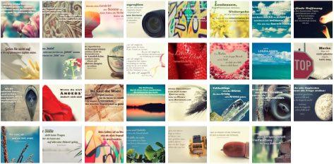 Übersichtsbild. Bilder Galerie mit Lebensweisheiten, Weisheiten, Zitate, Sprichwörter und Sprüche des Tages Mai 2017