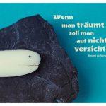 Seife mit Fisch auf Schieferplatte und dem Zitat: Wenn man träumt, soll man auf nichts verzichten. Honoré de Balzac