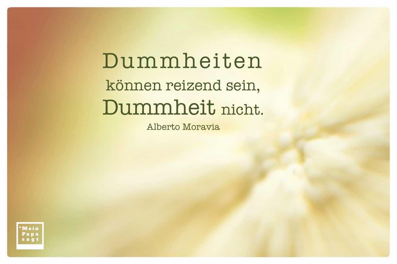 Blumenkohl digital verfremdet mit dem Moravia Zitat: Dummheiten können reizend sein, Dummheit nicht. Alberto Moravia