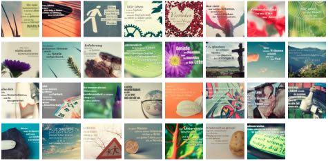 Übersichtsbild. Bilder Galerie mit Lebensweisheiten, Weisheiten, Zitate, Sprichwörter und Sprüche des Tages März 2018