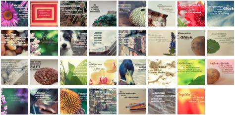 Übersichtsbild. Bilder Galerie mit Lebensweisheiten, Weisheiten, Zitate, Sprichwörter und Sprüche des Tages Mai 2018